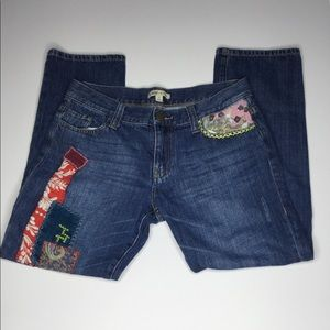 Cabi JEANS Embroidered